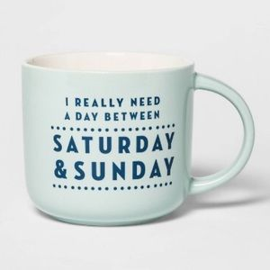Threshold Saturday & Sunday mug